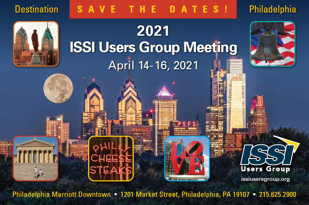 ISSI Users Group Meeting - Save the Date Apr 14-16, 2021